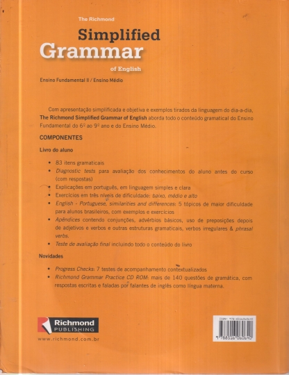 The Richmond Simplified Grammar Of English With Cd