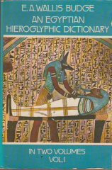 An Egyptian hieroglyphic dictionary - in two volumes