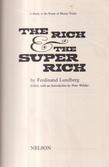 The rich and the super rich