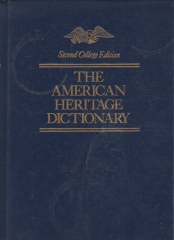 the american heritage dictionary -second college edition