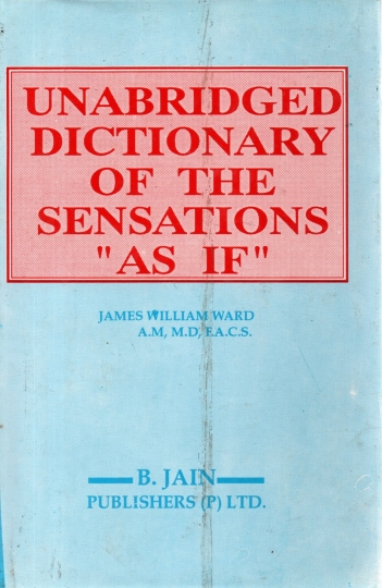 Unabridged Dictionary of the Sensations 'As If' 2 volumes