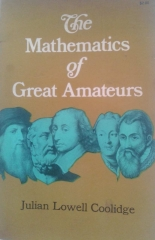 The Mathematics of Great Amateurs - 1 Edição