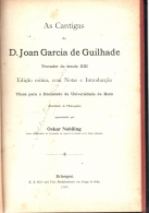 as cantigas de d. joan garcia de guilhade