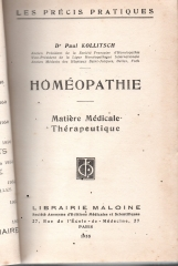 homeopathie - matiere medicale, therapeutique