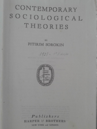 Contemporary Sociological Theories - 1 Edição