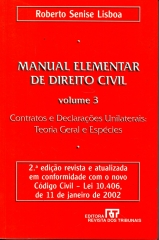 manual elementar de direito civil v. 3. 2ª ed