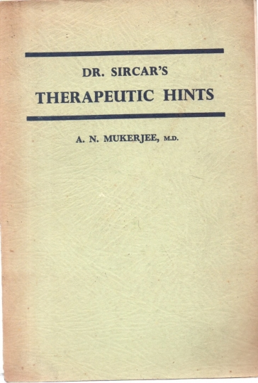 Dr. sircar's therapeutic hints