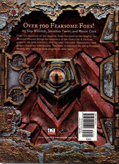 Monster manual dungeons dragons core rulebook III
